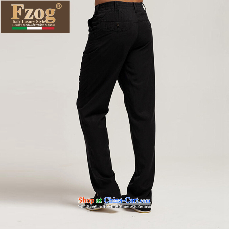 Summer 2015 new FZOG trousers China wind Tang Dynasty Chinese comfort and breathability black casual pants and black�XXL