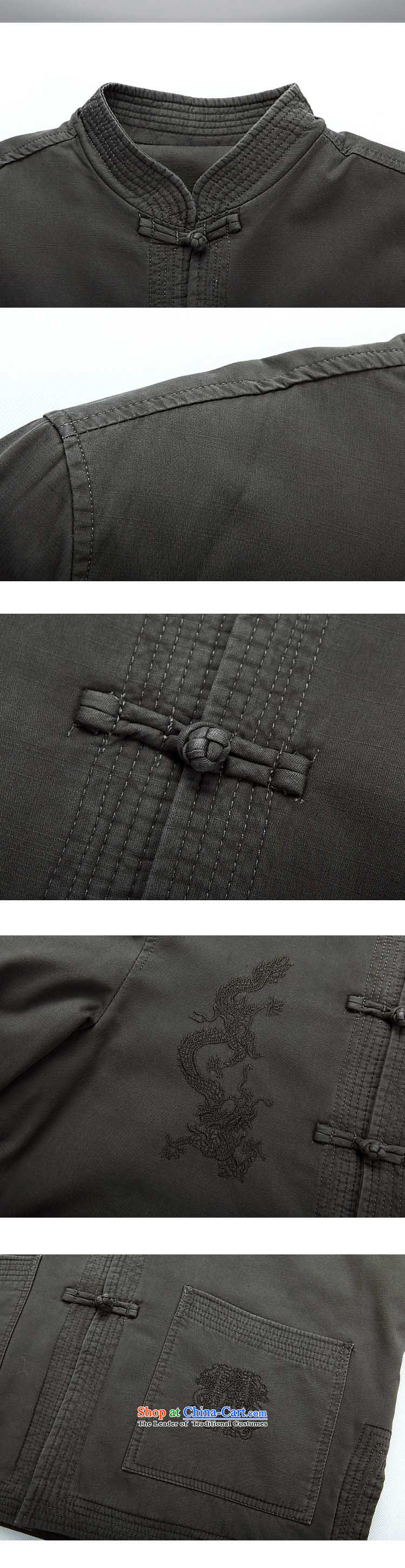 The autumn and winter, aeroline men Tang dynasty China wind long-sleeved jacket in both the father聽XXXL Gray Photo older, prices, brand platters! The elections are supplied in the national character of distribution, so action, buy now enjoy more preferential! As soon as possible.