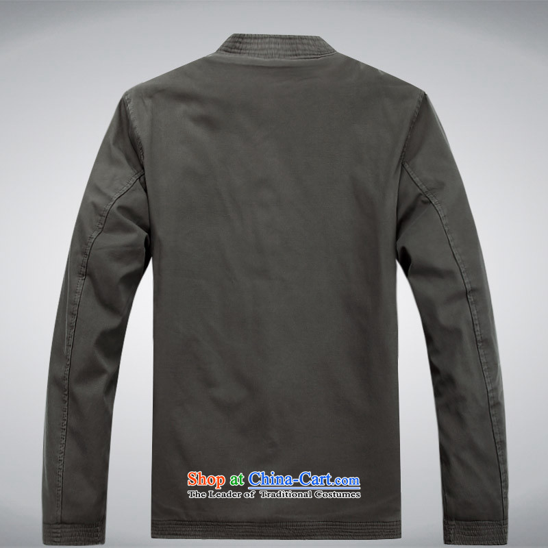 The autumn and winter, aeroline men Tang dynasty China wind long-sleeved jacket in both the father of older gray聽XXXL,MEROPIA,,, shopping on the Internet