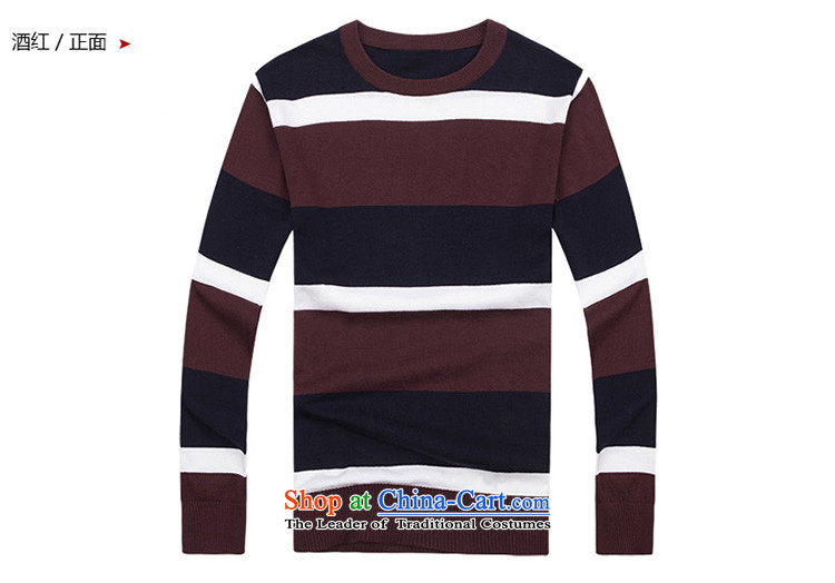 Global 2015 New Roma men's stylish and cozy round-neck collar pure cotton knitted shirt H12-2011 wine red聽XL Photo, prices, brand platters! The elections are supplied in the national character of distribution, so action, buy now enjoy more preferential! As soon as possible.
