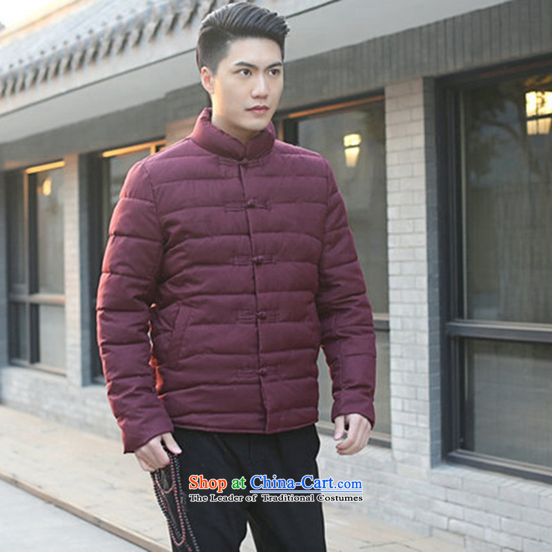 Find Sophie men Tang dynasty autumn and winter new collar manually drive Chinese Wind and feather cotton coat jacket and pictures folders   Color?2XL