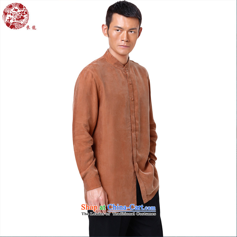 To replace the fall of Tang Lung China wind men long-sleeved shirt?14546?Yellow Earth?48 Yellow Earth?46