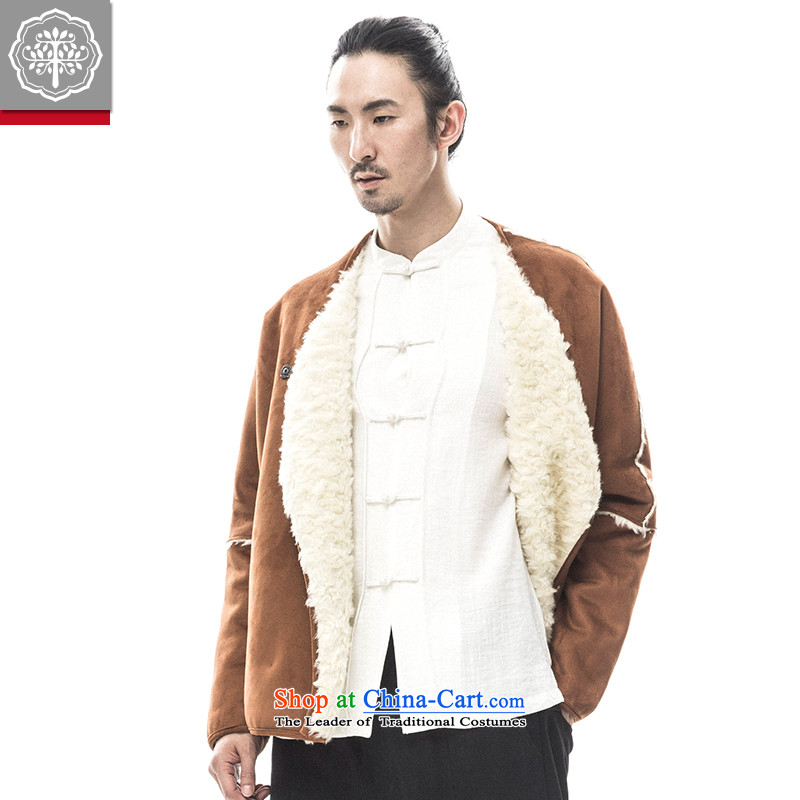 2015 Autumn tree to Tang dynasty and the new long-sleeved sweater thick Warm Han-male China improved Tang Huang聽180/XL, wave of tea to tree (EYENSREE) , , , shopping on the Internet