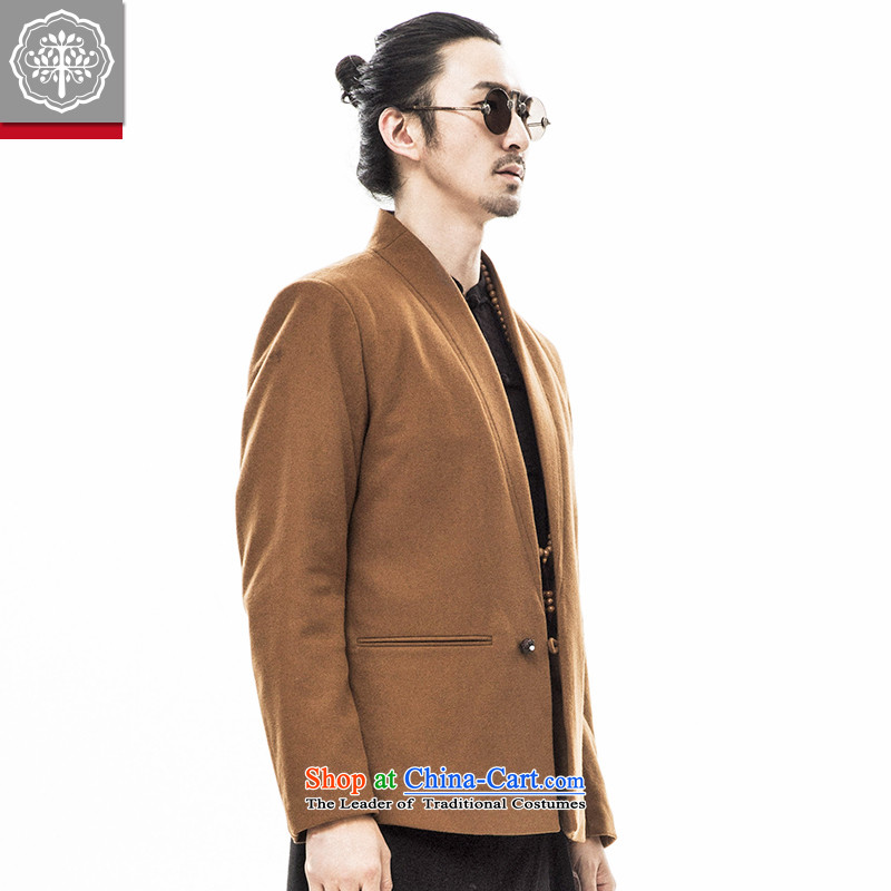 2015 Autumn tree to the new China wind Han-tang replacing men of ethnic Chinese long-sleeved jacket and dark-colored jacket wool?180/XL