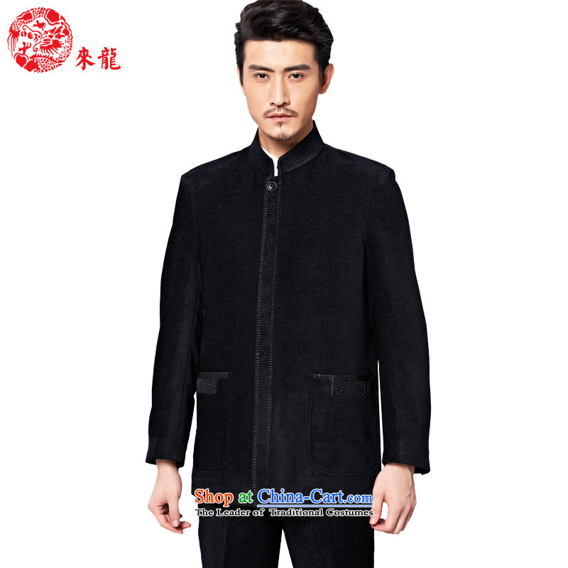 To Tang dynasty dragon autumn and winter, China Wind Jacket聽88058 male聽black聽48 Black聽46