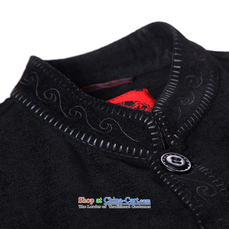 To Tang dynasty dragon autumn and winter, China Wind Jacket 88058 male black 48 Black 46 to lung , , , shopping on the Internet