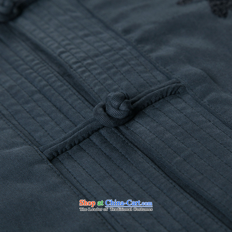 To Tang dynasty dragon autumn and winter, China wind men tencel jacket聽14539聽Black聽48 deep blue聽52, to lung , , , shopping on the Internet