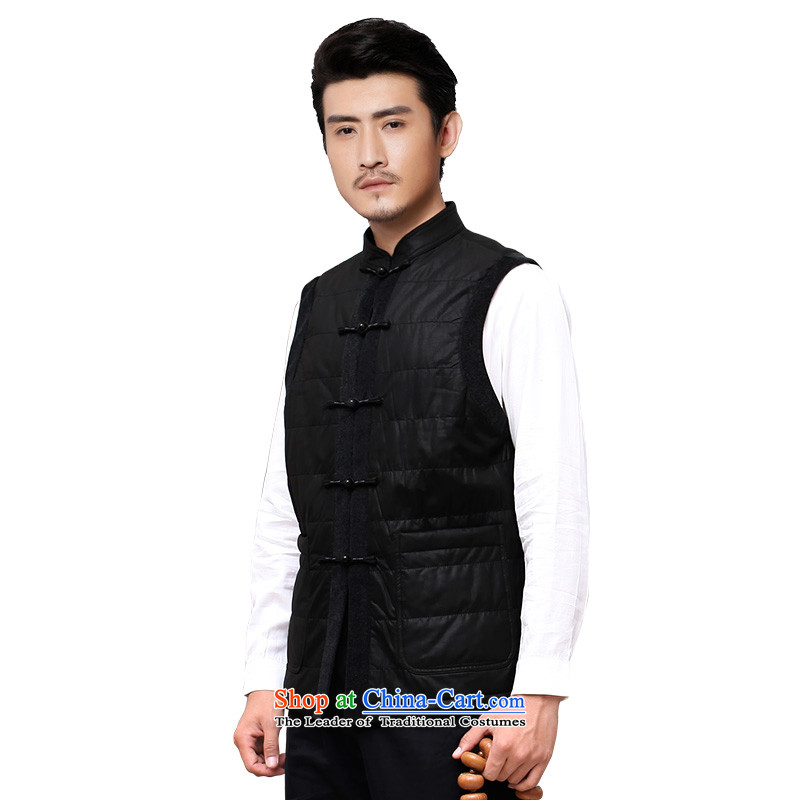 To Tang dynasty dragon autumn and winter, China wind men at shoulder vest聽13889聽Black聽48 Black聽52, to , , , lung shopping on the Internet