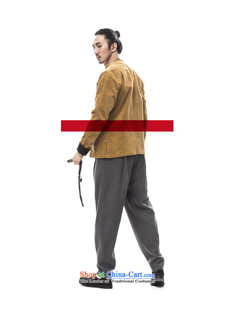 2015 Autumn and winter to New Tree Chinese men Tang dynasty long-sleeved corduroy ãþòâ improved Han-male China wind men designer brands rattan175/L yellow picture, prices, brand platters! The elections are supplied in the national character of distribution, so action, buy now enjoy more preferential! As soon as possible.