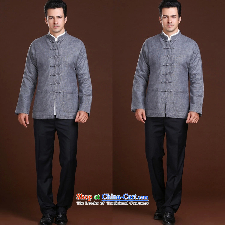 New Spring FZOG minimalist leisure pure color rib washable men older long-sleeved Tang dynasty comfortable grayL picture, prices, brand platters! The elections are supplied in the national character of distribution, so action, buy now enjoy more preferential! As soon as possible.