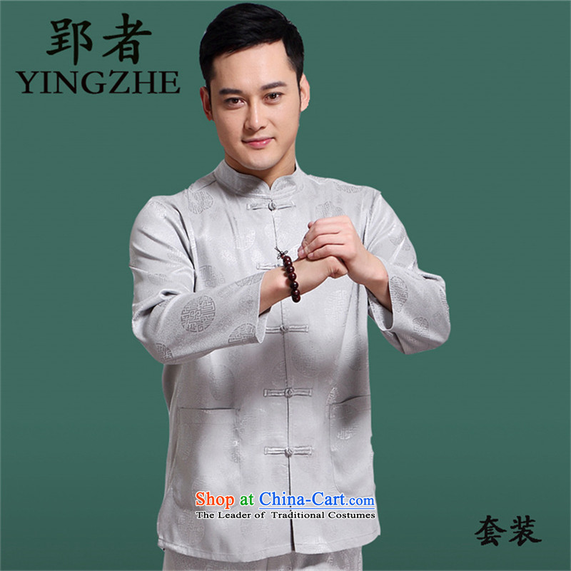 Package the spring and fall of mail YIN ZHOU HONG CHENG MACHINE CORPORATION Tang dynasty and long-sleeved) older family members to set the wearing of ethnic Chinese Grand National Dress Circle in urges hi beige聽180, YIN ZHOU HONG CHENG MACHINE CORPORATION