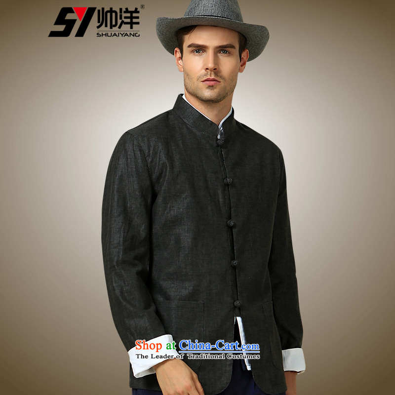 The Ocean 2015 Autumn Load Shuai New Men Tang jackets China Wind Jacket collar chinese ties to gray?185 ROM