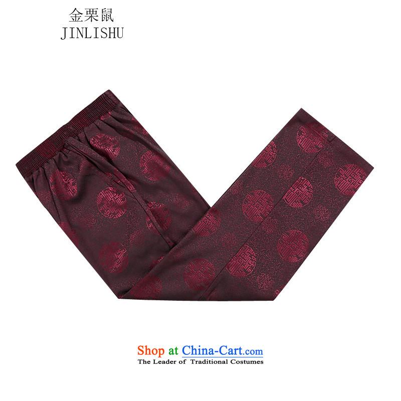Kanaguri mouse autumn and winter new Tang dynasty Long-sleeve men Tang Dynasty Package Tang jacket men fall and winter Tang pants thick red kitXL/180, kanaguri mouse (JINLISHU) , , , shopping on the Internet
