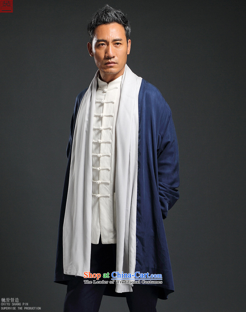 Renowned China wind Tencel Ma Tang dynasty cardigan improved Han-long-sleeved shirt Autumn Chinese Long Hoodie men L/170 Blue Photo, prices, brand platters! The elections are supplied in the national character of distribution, so action, buy now enjoy more preferential! As soon as possible.