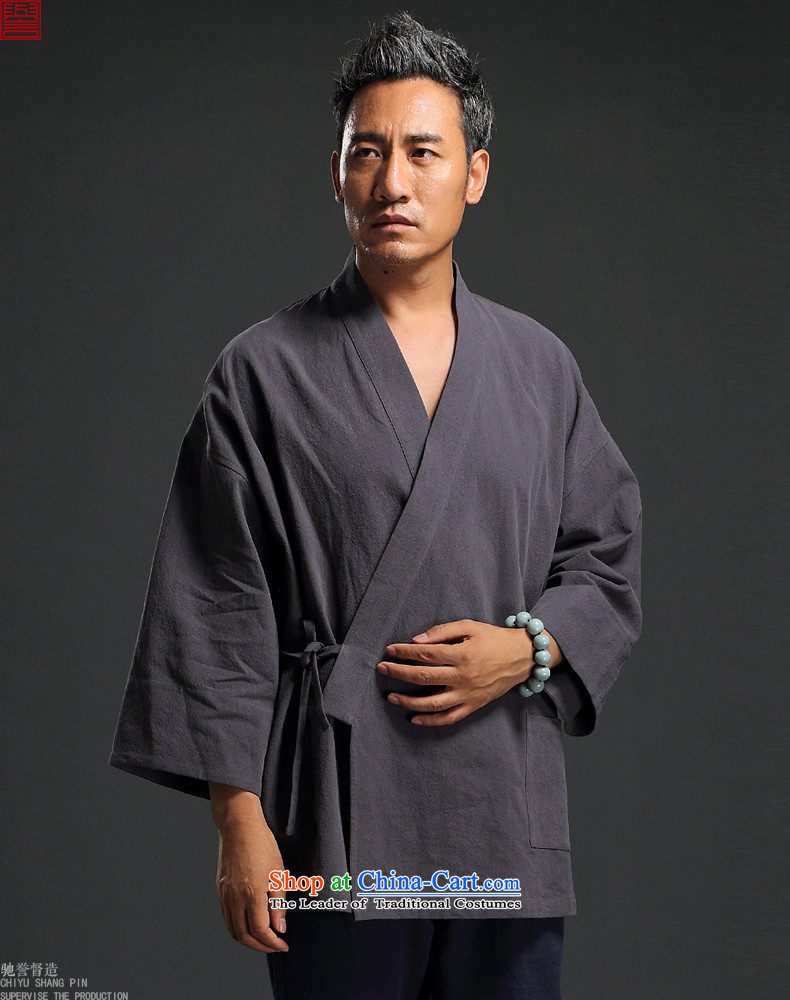 2015 Autumn renowned China wind linen retro Han-men to fulfill his breast cardigan leisure Tang dynasty men t-shirt tea service practice ball-blue聽L pictures, service price, brand platters! The elections are supplied in the national character of distribution, so action, buy now enjoy more preferential! As soon as possible.