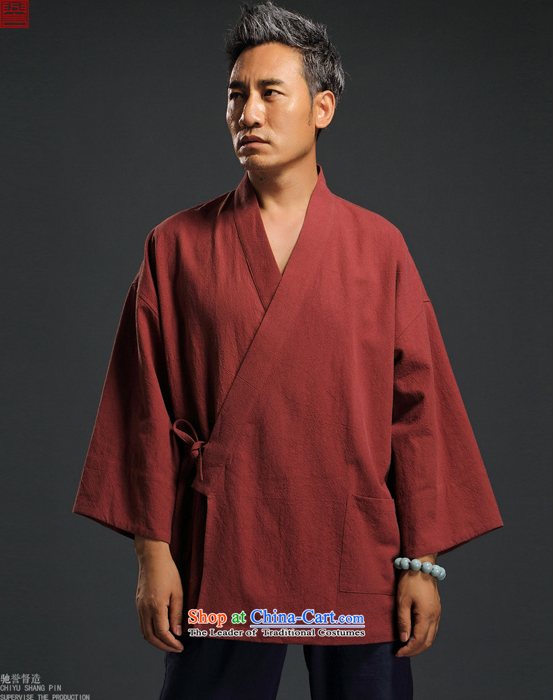 2015 Autumn renowned China wind linen retro Han-men to fulfill his breast cardigan leisure Tang dynasty men t-shirt tea service practice ball-blue L pictures, service price, brand platters! The elections are supplied in the national character of distribution, so action, buy now enjoy more preferential! As soon as possible.