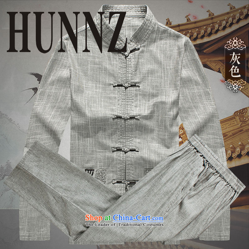New products fall HUNNZ2015 Tang dynasty and the package for long-sleeved clothes of older persons with classical China wind load father gray 175,HUNNZ,,, shopping on the Internet