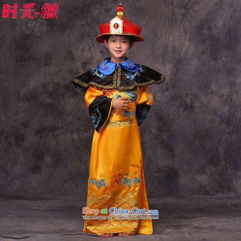 The Syrian children in the Qing dynasty reigning time replace Tzu Lung Emperor' fees in the Spring and Autumn and Warring States toward the Minister Chin Han-floor photography stage drama ancient Yellow�130CM