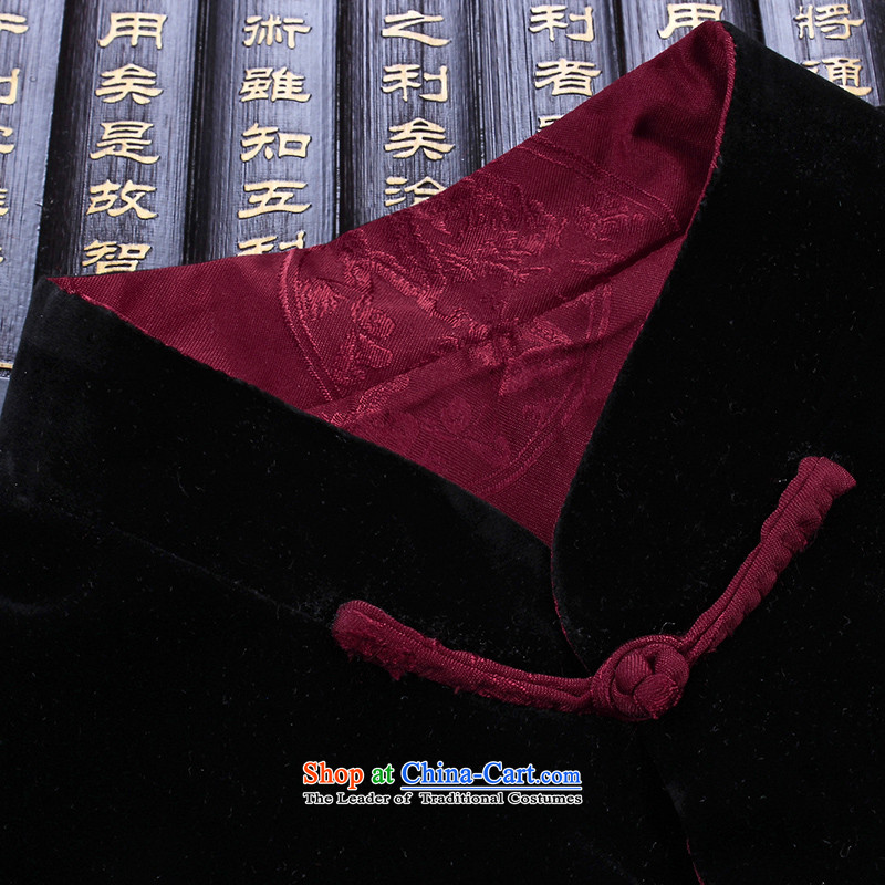 Hannizi new corduroy of older persons in the Tang Dynasty Recreation of traditional Chinese wind long-sleeved men wearing a jacket and black and red double-sided double-sided 185 won, Gigi Lai (hannizi) , , , shopping on the Internet