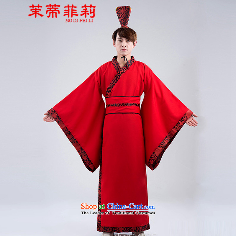 Energy Tifi Han-li hong Kong-those men direct Civil Han-Tang dynasty improved wedding costumes black�XXL