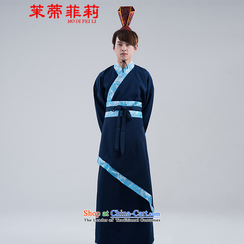 Energy Li Han-tifi costume men men navy civil administration will track will start with the men wedding photo album clothing navy?XL