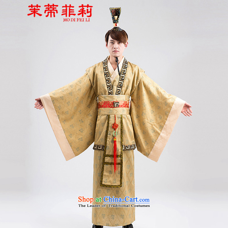 Energy Tifi Han-li hong Kong-those men costume improved performance of services will dress men wearing yellow燣
