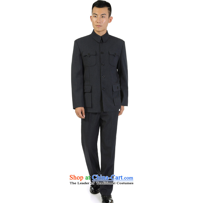 Mr James TIEN made during the Spring and Autumn Chinese collar suit kit leisure. older men Chinese tunic kit collar Chinese tunic male kit gray�72