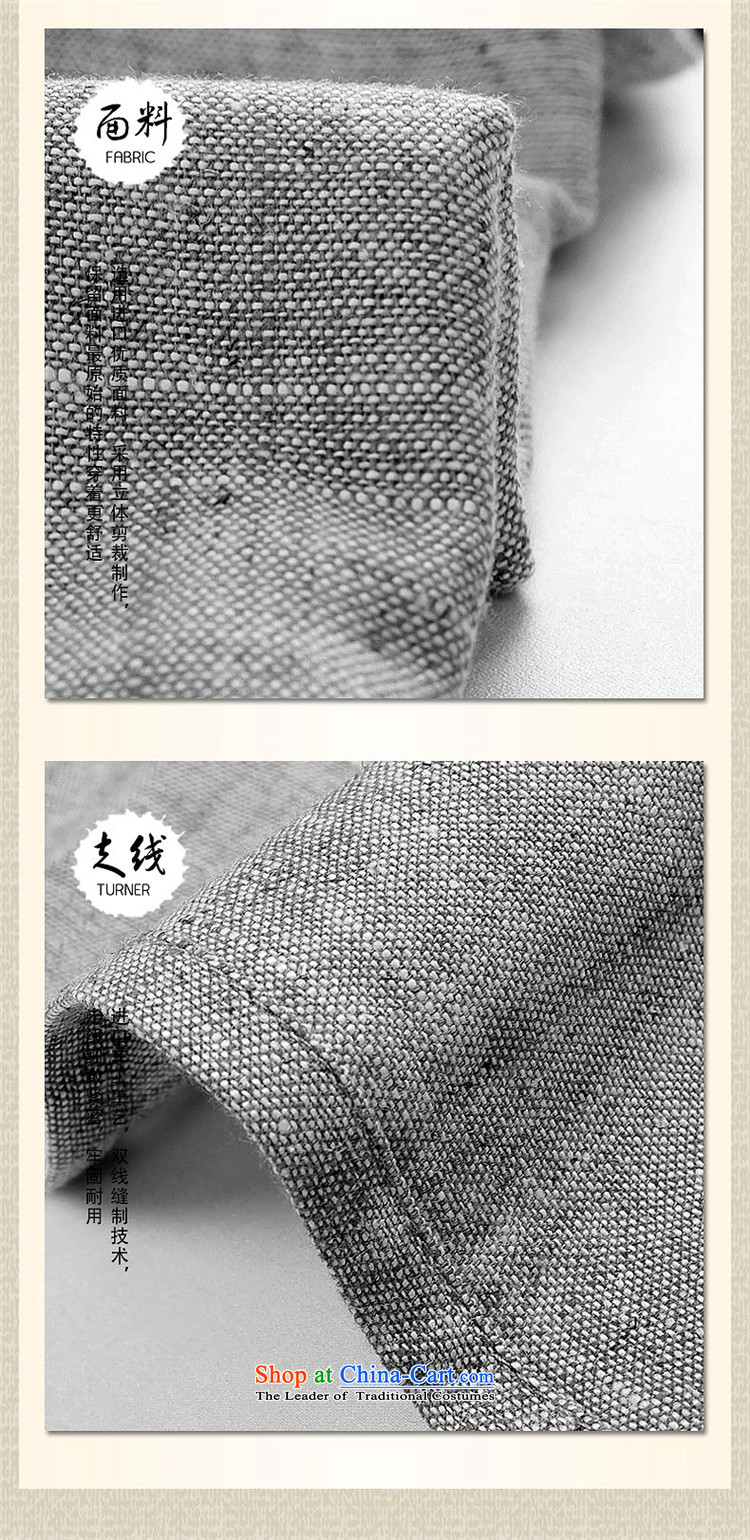 New Natural Linen HANNIZI China wind classic men Tang dynasty long-sleeved kit cotton linen old folk weave kung fu with light gray聽PHOTO 175, prices, brand platters! The elections are supplied in the national character of distribution, so action, buy now enjoy more preferential! As soon as possible.