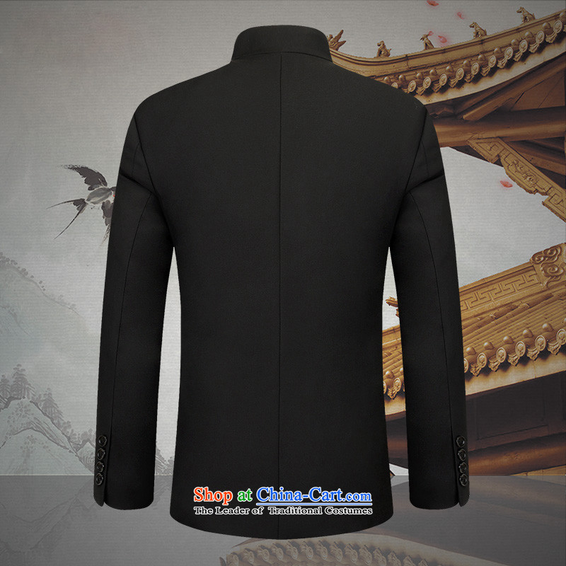 New Products of China HUNNZ Mock-neck Chinese tunic Chinese long-sleeved Sau San Kit young men national costumes black聽165,HUNNZ,,, shopping on the Internet