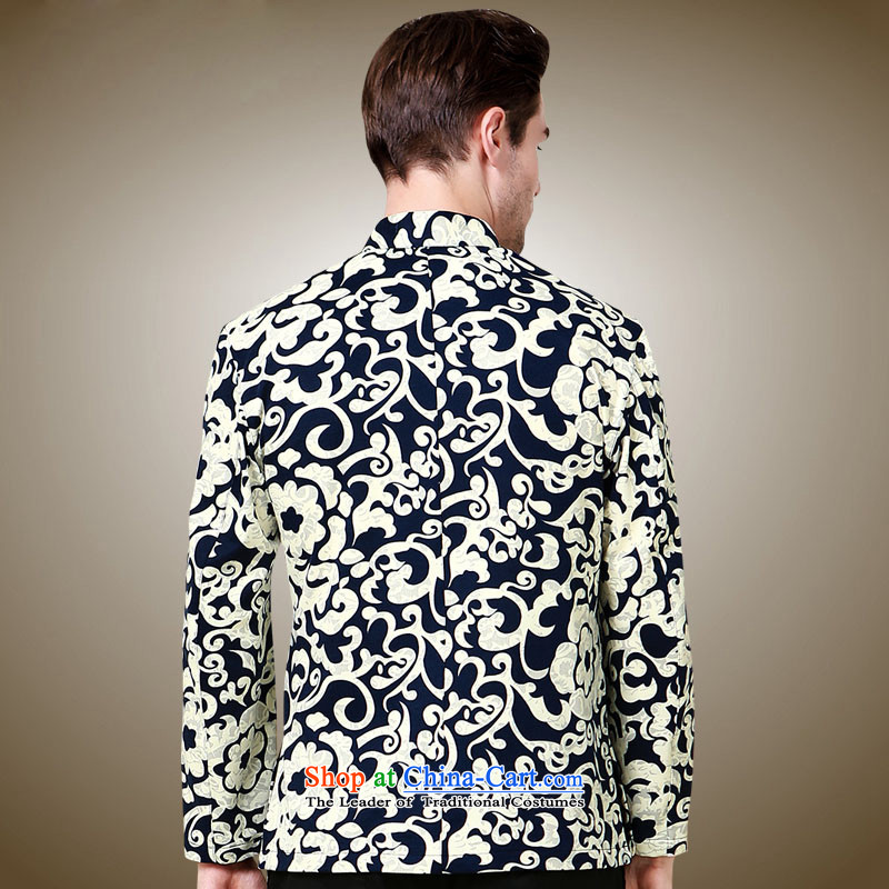 Hannizi men Tang jackets Classical China wind 3D color stamp collar disc detained Chinese men long-sleeved black165, Korean men's position (hannizi) , , , shopping on the Internet