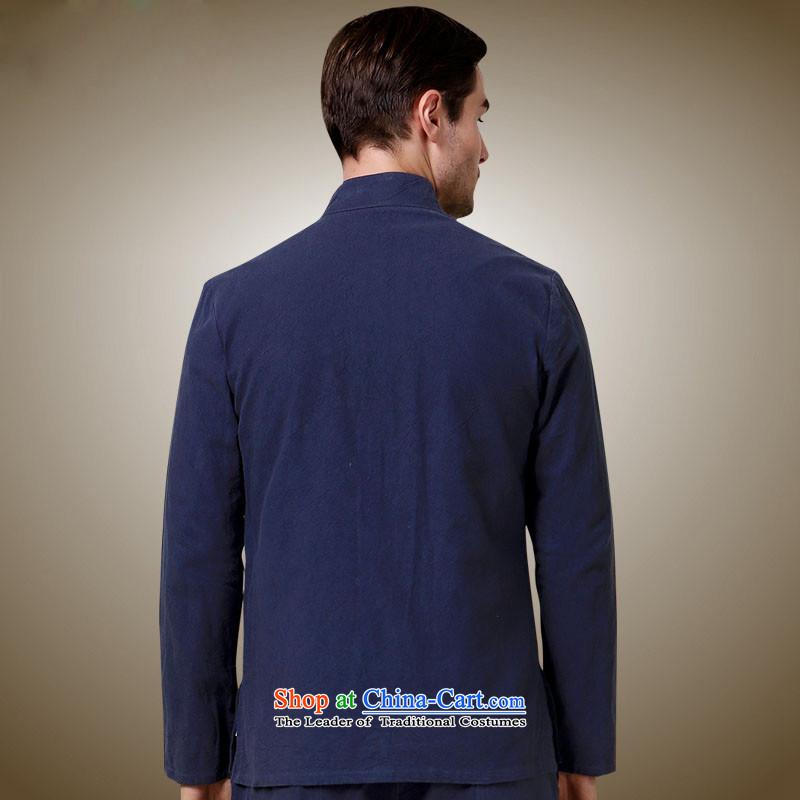 New HANNIZI2015 men Tang China Wind Jacket collar tray clip Sau San men Simple Chinese shirt聽, dark blue 165, Korea (hannizi Gigi Lai) , , , shopping on the Internet