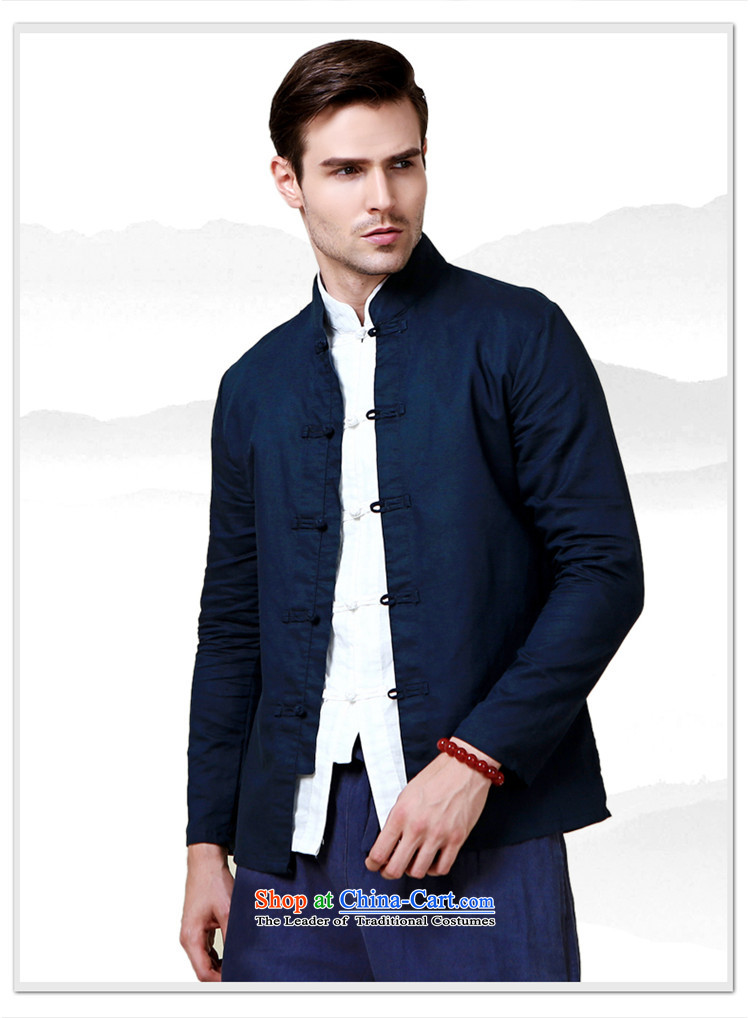Hannizi natural cotton linen men Tang dynasty China wind long sleeved shirt collar shirt Solid Color Chinese White men detained disk聽175 pictures, prices, brand platters! The elections are supplied in the national character of distribution, so action, buy now enjoy more preferential! As soon as possible.