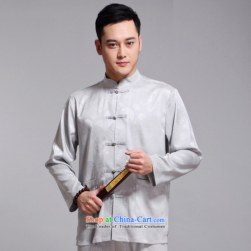 Tang Dynasty Men long-sleeved kit autumn and winter new products men cotton linen collar Chinese tunic of older Tang Dynasty Package Boxed聽1519 Black DAD package聽the Van Gogh hash (185XXXL, MUFONCE) , , , shopping on the Internet