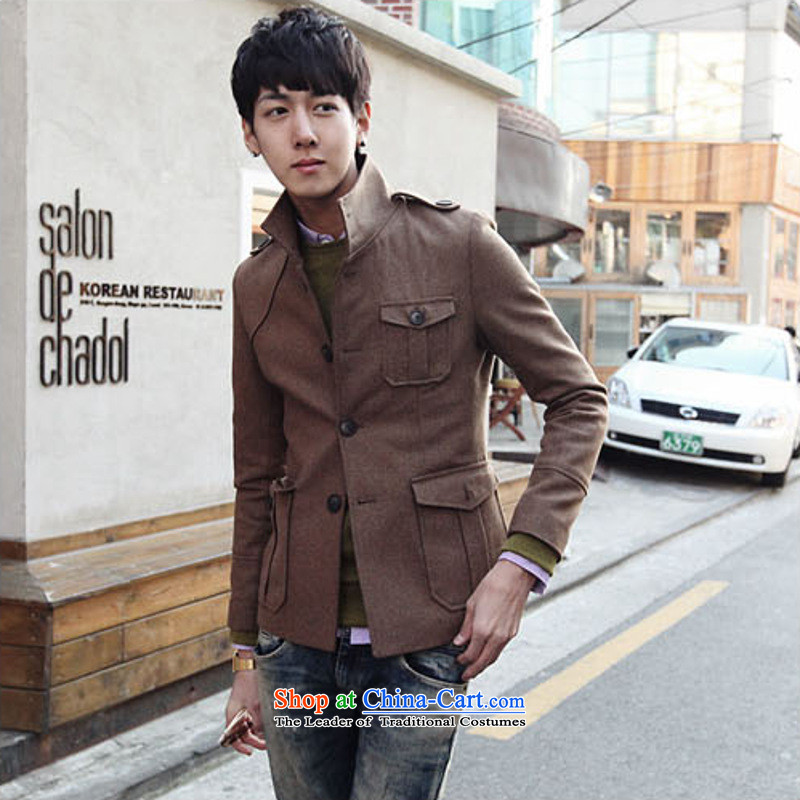 Dan Jie Shi _DANJIESHI_2015 stylish autumn and winter jackets to the British Institute of Sau San retro collar men jacket? The Chinese tunic coffee gross?XL