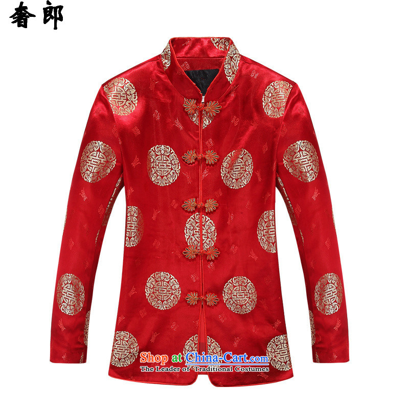 The extravagance in health of older couples with Tang Dynasty autumn and winter coat of older persons men t-shirt long-sleeved sweater China wind improved stylish tray clip father grandfather jacket?88016 female clothes?only 160 women