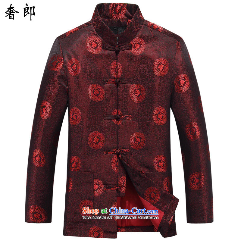 The luxury health Fall_Winter Collections men Tang Gown of older persons in the birthday of long-sleeved hisao jacket coat couples will Tang dynasty China wind Han-�030_ and stylish improved�0 T-Shirt
