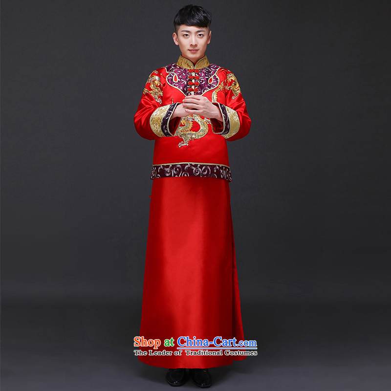 The Royal Advisory Groups to show love men Chinese men married new Ogonis toasting champagne dress suit large use of Tang Dynasty Ancient Chinese tunic wedding package?318 male kit?M