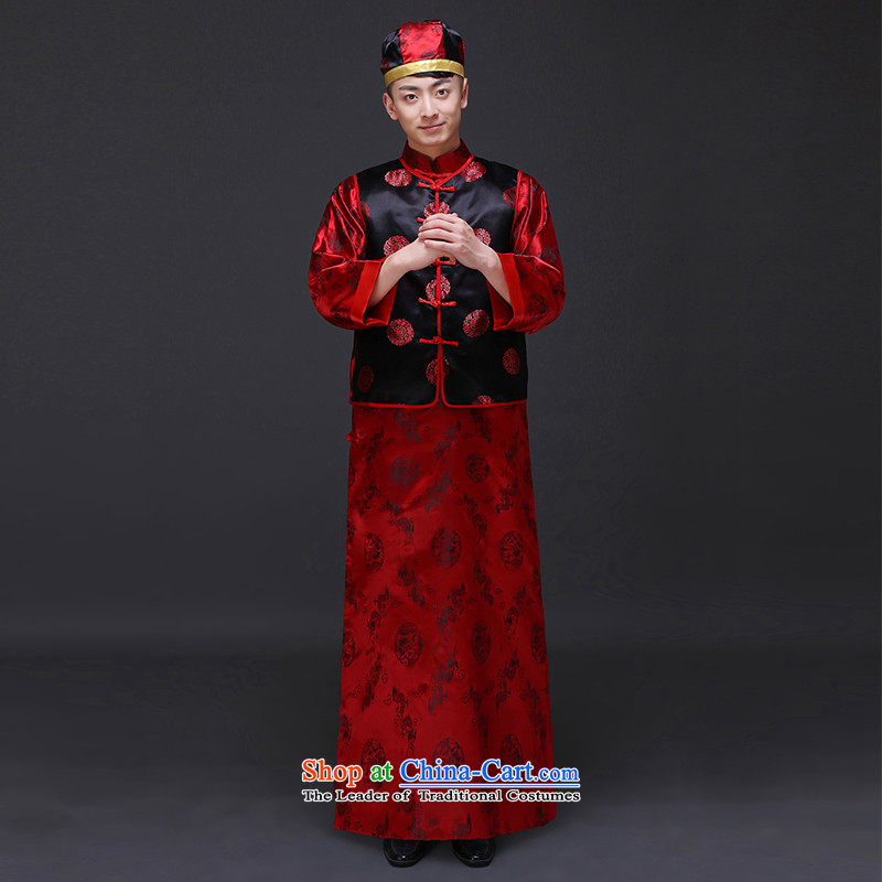 The Royal Advisory Groups to show love men Chinese style wedding services married new Ogonis bows Male dress Soo Wo Service happy marriage maximum use of ancient bridegroom set of clothing?S