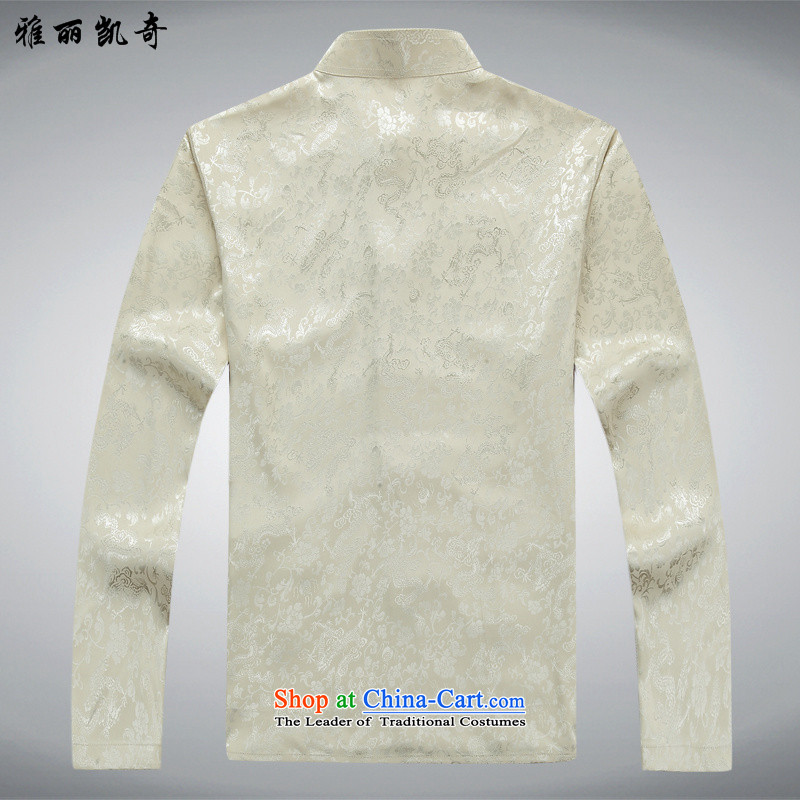 Alice Keci new long-sleeved men Tang Dynasty Package for the elderly men with elderly men's grandfather father Tang dynasty summer Mock-Neck Shirt聽XXL/185, -2562 Red single Alice keci shopping on the Internet has been pressed.