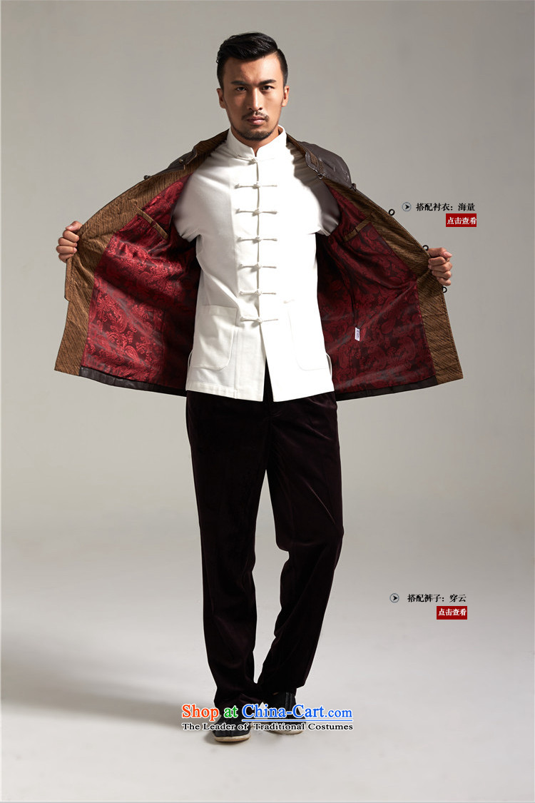 Fudo Kun Code de China wind Men's Jackets Tang dynasty 2015 autumn and winter middle-aged long-sleeved father replacing Chinese clothing brown聽M/165 picture, prices, brand platters! The elections are supplied in the national character of distribution, so action, buy now enjoy more preferential! As soon as possible.