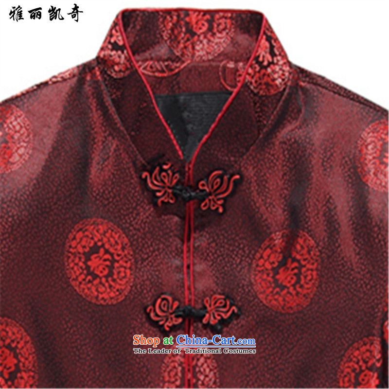 Alice Keci in Tang Dynasty Package older couples older men and women's cotton coat jacket golden marriage life over the elderly fall and winter robe -8803 long-sleeved shirt,聽8803) kit shirt plus聽185 pants, only the Alice keci shopping on the Internet has