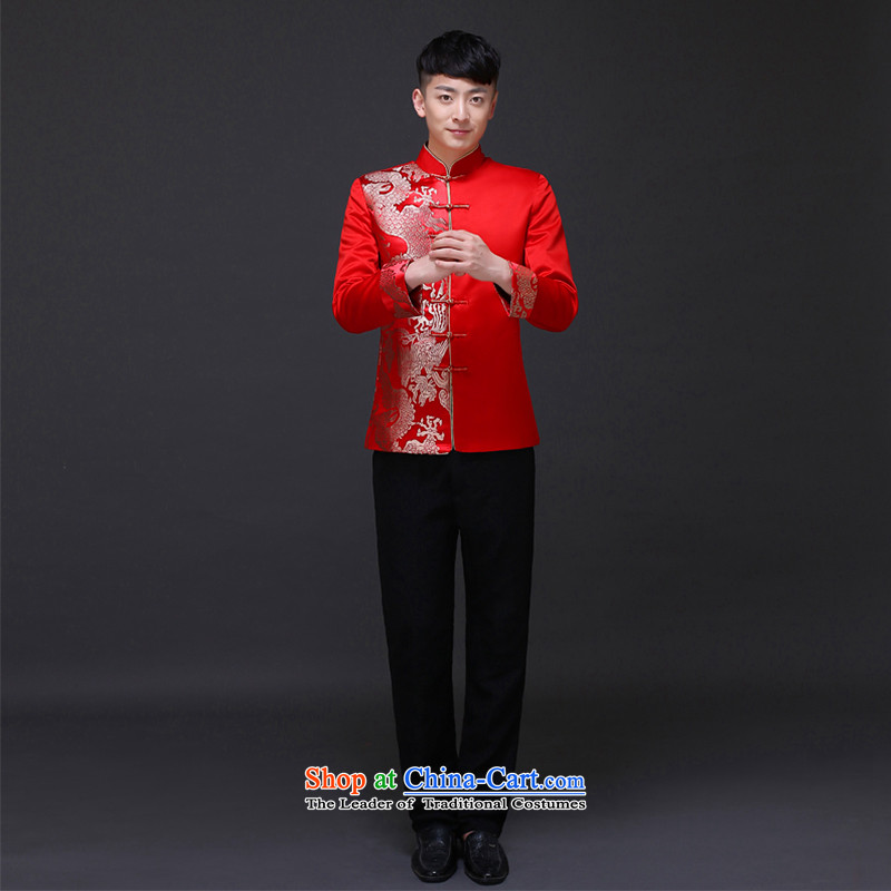 The Royal Advisory Groups to show love men of the bridegroom Tang Dynasty Chinese wedding dress dragon design services and groom Sau Wo replacing men-soo and load dress costume Jinlong male shirt?L