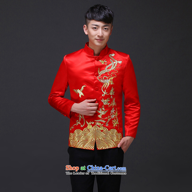 The Royal Advisory Groups to show love men of the bridegroom Tang Dynasty Chinese wedding dress Sau Wo service men and replace the bridegroom grain Bong-men-soo and load dress costume Phnom Penh male shirt?L