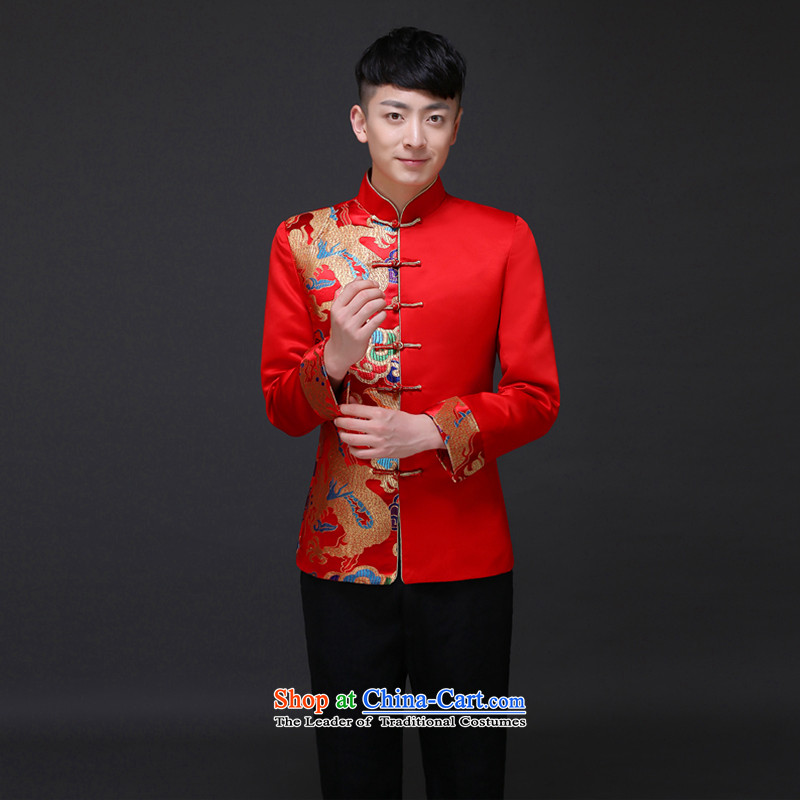 The Royal Advisory Groups to show love men married to groom load Chinese men Tang Dynasty Show Services dragon tattoo wo costume hi-Married men's dress dragon bows shirt?S