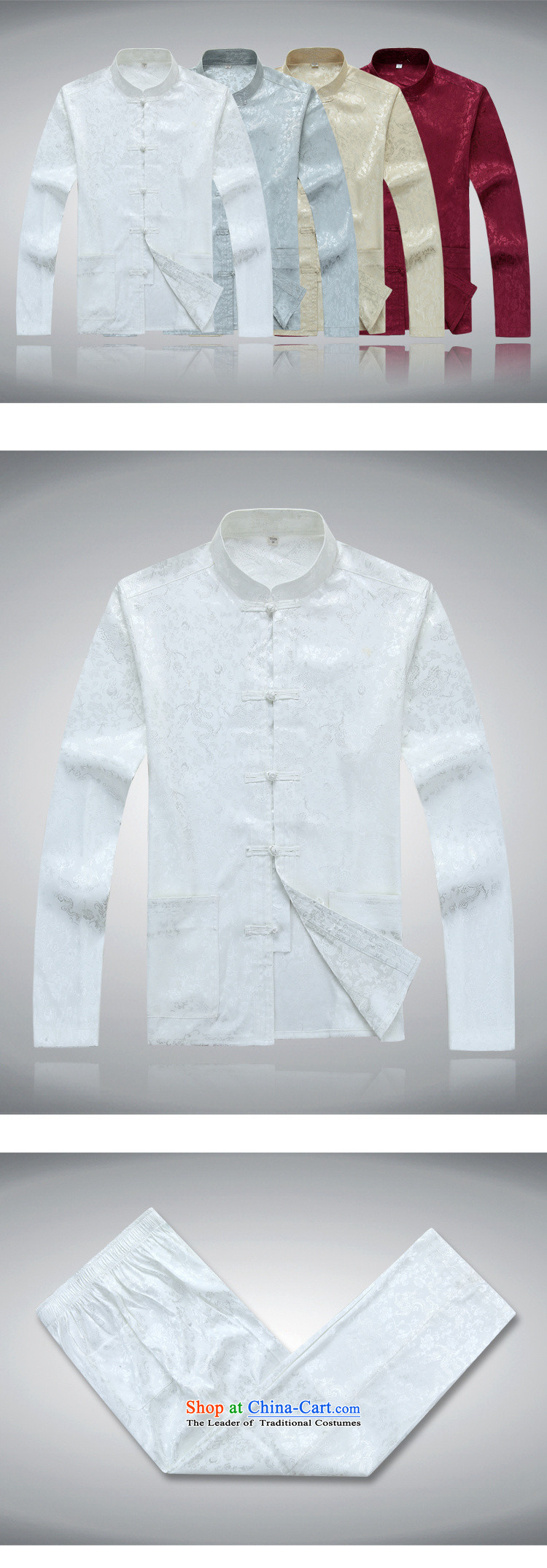 Top Luxury China wind long-sleeved men Tang Dynasty Package Chinese Disc Port Tang dynasty male summer load national dress for father shou dress jacket coat聽2562, White Kit聽190/XXXL picture, prices, brand platters! The elections are supplied in the national character of distribution, so action, buy now enjoy more preferential! As soon as possible.