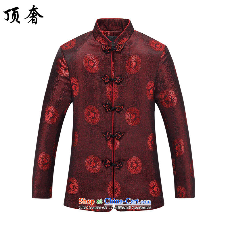 Top Luxury China wind spring and fall with Tang dynasty women and men lovers of older persons in the marriage ceremony of spring Chinese clothing improvement over the old age pension marriage life long-sleeved sweater, 806 women red T-shirt?170_M men