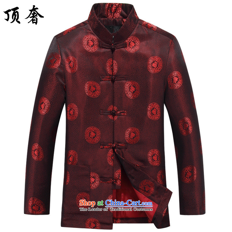 The spring of the top luxury of older persons to live a Tang Dynasty Happy Birthday Tang dynasty male life of older persons in the spring and autumn red jacket for couples Men and Women 8806, men red T-shirt?170 female_