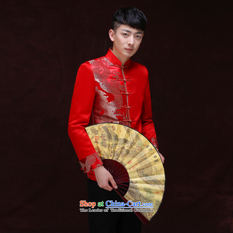 Tsai Hsin-soo wo service of men of the bridegroom Tang Dynasty Chinese wedding dress dragon design services and groom Sau Wo Men costume costumes replacing-soo and blouses A?L