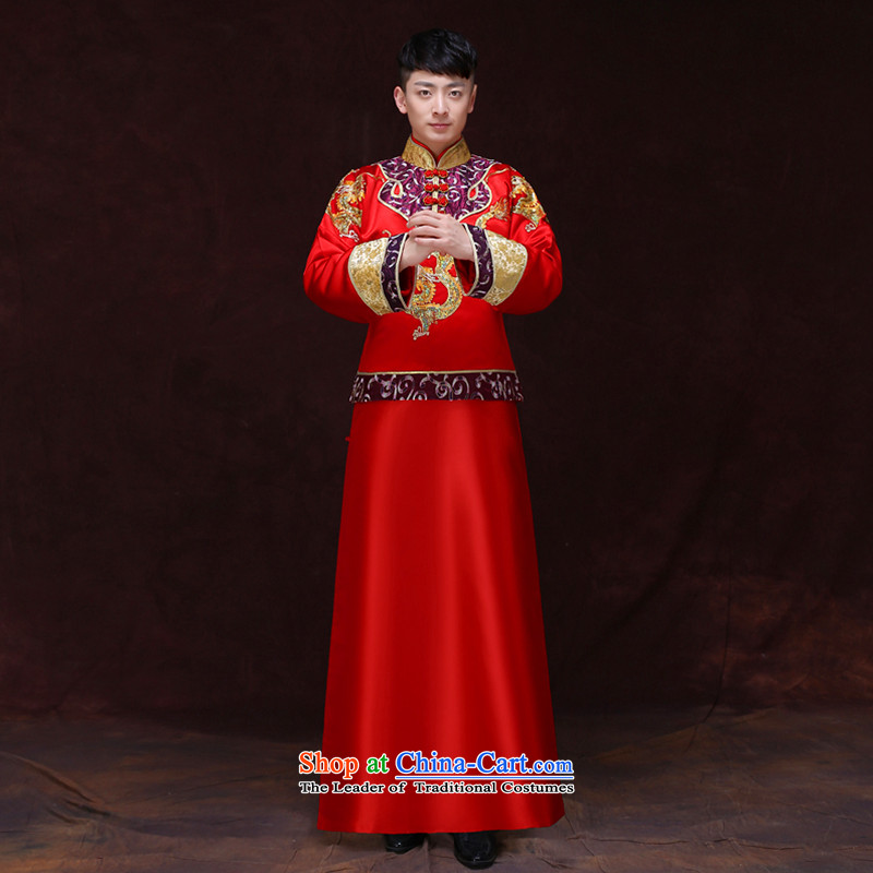 Tsai Hsin-soo Wo Service dream men married men dresses Chinese New Ogonis bows dress gowns Tang Dynasty Chinese tunic costume wedding package set of clothes?S