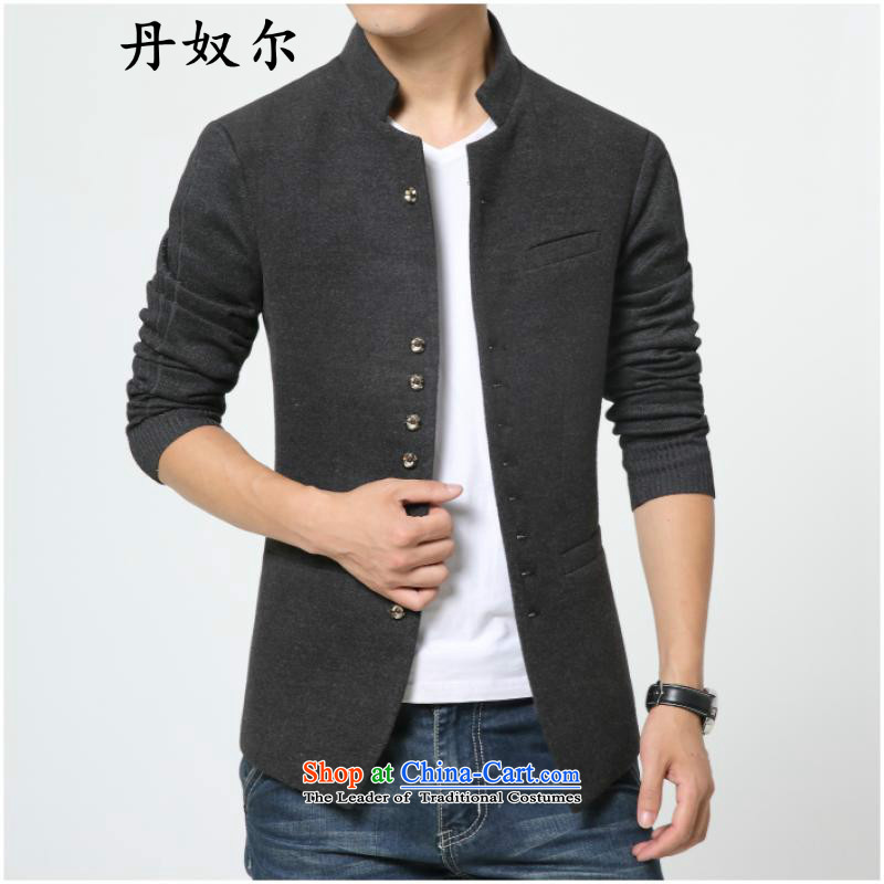 Century, slavery, men fall 2015 Chinese tunic new men suits tablets detained collar then west male and the modern business and leisure Chinese tunic jacket carbon燲L